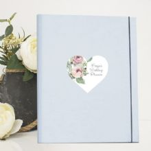 A4 Luxury Wedding Planner/Organiser featuring Personalised Roses on a Heart - Ideal Engagement Gift